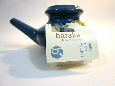 baraka breath of life daily rinse neti pot for sinuses made by Red Hot Ceramics