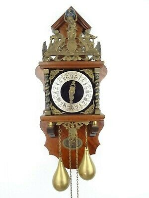 Zaanse Zaandam Warmink Dutch Wall Clock REPAIR Vintage (Junghans Hermle Era)