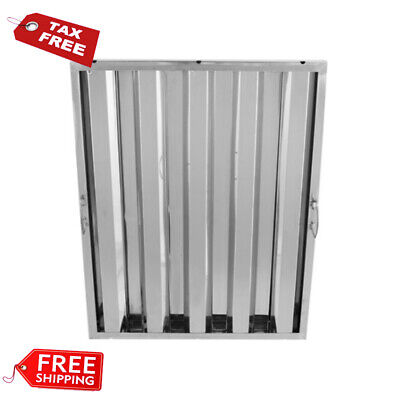 """25"""" x 20"""" Stainless Steel Hood Grease Commercial Exhaust Filter Baffle Kitchen"""