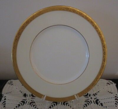 10 Tiffany & Co Gold Band Rimmed Luncheon Plates Made by Minton H3996 Excellent