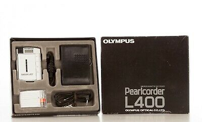 Olympus Pearlcorder L400 Kit  Ultra Compact Microcassette Recorder Boxed