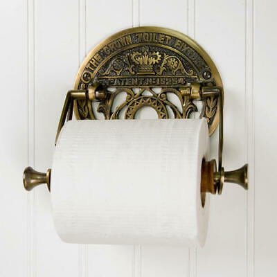 Crown Toilet Fixture Solid Brass Toilet Paper Holder Antique Brass