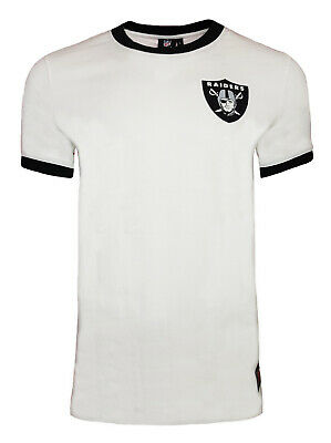Official NFL Oakland Raiders Ringer T Shirt Mens Muscle Fit Top Jersey