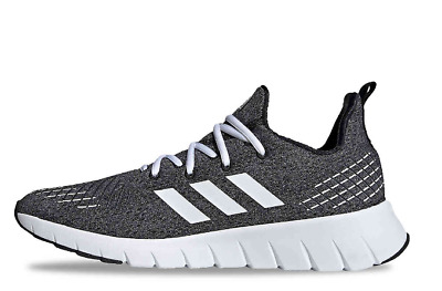 Adidas Asweego Running Trainer Shoes Grey Black White $80 F35557 Mens US 12