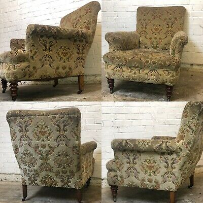Antique Victorian ArmChair ReUpholstery Project Chair