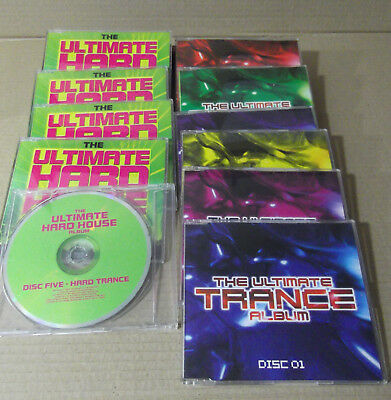 The Ultimate Hard house,Trance,Lote de 11 CD,s