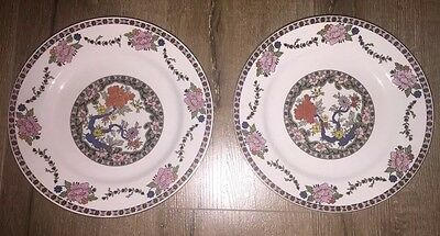 Vintage Lot Of 2 Dinner Plates J & G Meakin REGO SOL  Made in England
