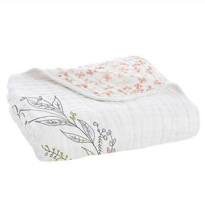 Aden and Anais Cotton Muslin Classic Dream Blanket Birdsong