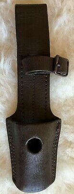Leather frog w/retainer for Mauser 1909 rifle bayonet used by Argentine Army