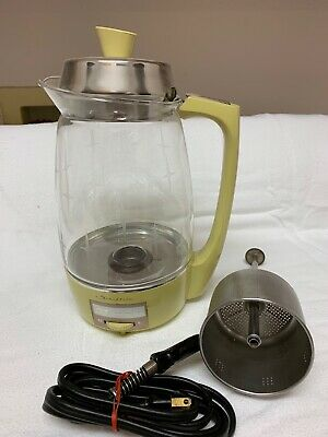 Vintage Proctor Silex Starflite 70506 Electric Glass Coffee Percolator 5-11 Cup