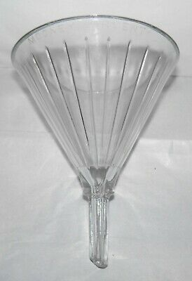 Vintage Pharmacy Apothecary Collectible MOONEY AIRVENT 16 Oz Ribbed Glass Funnel