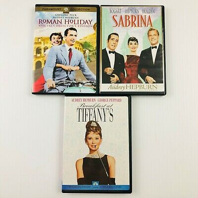 Audrey Hepburn Movie Lot Breakfast at Tiffany's, Roman Holiday, Sabrina
