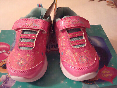Girl Nickolodeon Shimmer And Shine Light-Up  SneakersShoes Size 7 Toddler NIB