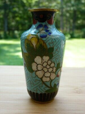 19th C. Gold Gilded Small Chinese Cloisonne Bud Vase