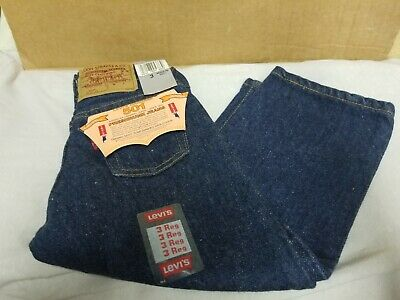Vintage 501 Baby Levis ZIPPER Fly Size 3 Reg Toddler RARE #102-0115 NWT