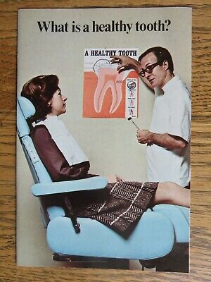 Vintage 1971 Proctor and Gamble Crest Healthy Tooth Pamphlet Advertisement