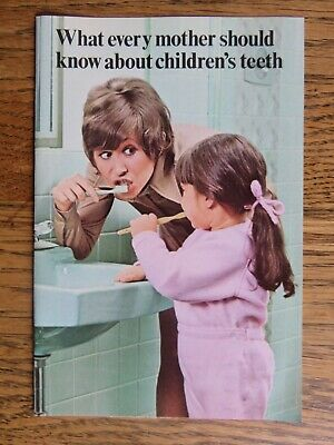 Vintage 1970 Proctor and Gamble Crest Kids Teeth Pamphlet Advertisement