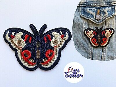 Large Butterfly Iron On Patch Badge Nature Applique DIY Clothes Sticker Insect