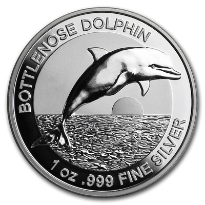 2019 Australia $5 Dolphin High Relief 1 oz Silver Proof Coin