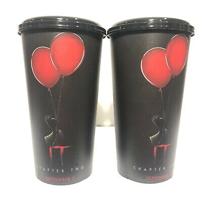 2Pcs Cup Plastic 32oz.IT Chapter Two Movie Cinemas Theatres