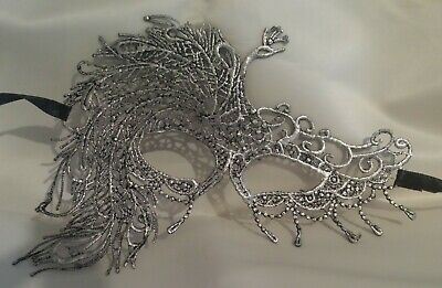 Black Silver Filigree Masquerade Ball Christmas Mask Gothic fancy dress Party 1