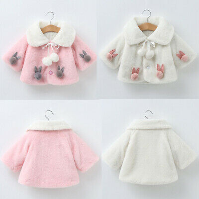 Cute Toddler Baby girls Winter Long Sleeve Warm Jacket Hooded Outerwear Coats