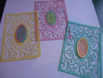Die Cut Frames, Card Fronts, Toppers, Cards, Scrapbook Embellishment 9 Piece