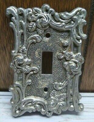 Brass American Tack & Howe Co. Light Switch Plate Cover 1967 60T - Floral Rose