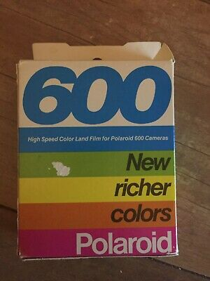 Polaroid Vintage 600 Color Land Film, Expired.  High Speed Two Pack