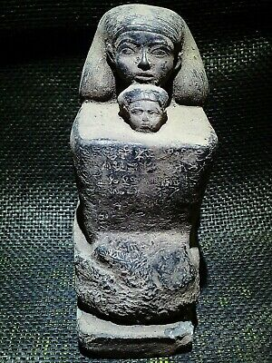 EGYPTIAN ANTIQUES ANTIQUITY Senenmut With Neferure Block Statue 1473-1458 BC