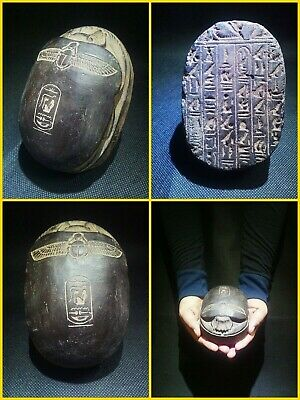 EGYPTIAN ANTIQUES ANTIQUITY Scarab Beetle Khepri Figure Sculpture 1549-1159 BC