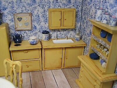 Miniature Dollhouse Furniture-Kitchen French Country 1 in scale
