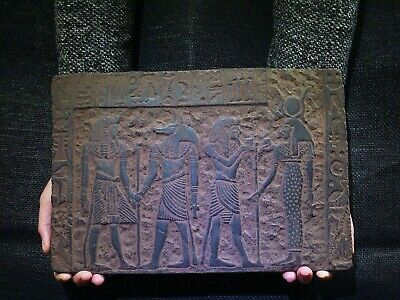 EGYPTIAN ANTIQUE ANTIQUITY Bearing Gifts for Isis Stela Stele 1211-1277 BC
