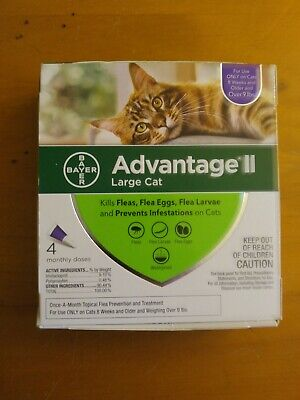 Bayer Advantage II for Large Cats over 9 Lbs - 4 Pack -  FLEA TREATMENT CONTROL
