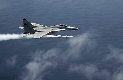 """MiG 29 fighter jet military russian airplane Mini Poster 24"""" x 16"""""""