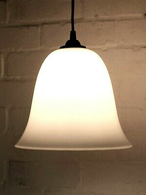 Ceiling Light An Antique Opaline Glass Bell Pendant Lampshade Early 20th Century