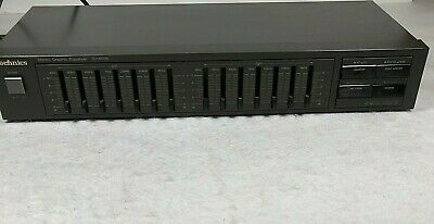 Vintage Technics Stereo Graphic Equalizer SH-8038 Tested Working