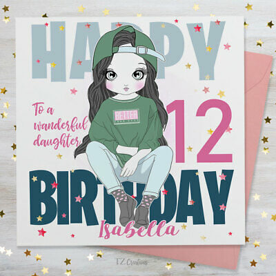Personalised Birthday Card Daughter Girl Granddaughter Niece Son Sister Boy