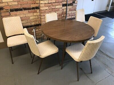 Awe Inspiring Set Of 6 Mid Century Modern Dining Chairs By Daystrom Bralicious Painted Fabric Chair Ideas Braliciousco