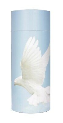 Small Scattering Ashes urn  Biodegradable Cremation Scatter Tube Flying Dove Urn