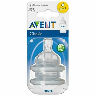 Philips AVENT Classic Newborn Teat Baby Bottle Feeding Essential BPA Free 2 Pack