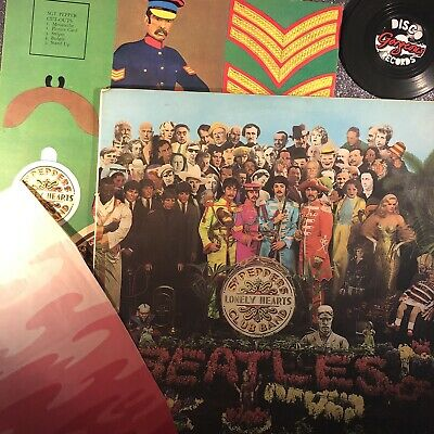 The Beatles — Sgt Pepper MONO WIDESPINE -1/-1 1st press PMC7027 (VG-/EX-)