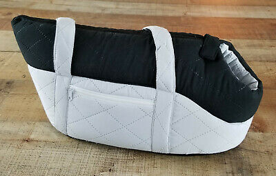 """Petmaker Pet Carrier PAW Cozy Cat Travel Soft Quilted Tote in Grey / Black 17.5"""""""