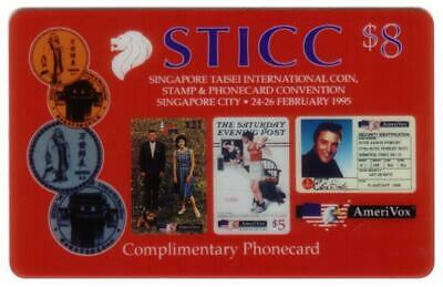 $8. STICC: Singapore Taisei Coin, Stamp & Phonecard Conv (02/95) TEST Phone Card