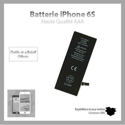 Batterie iPhone 6S Interne Neuve 0 cycle Grade AAA NEUF +Sticker+Outil