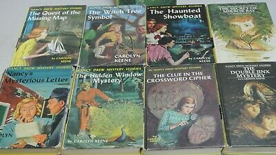 Vintage Nancy Drew Mystery Stories Hard Cover Books Lot of 9