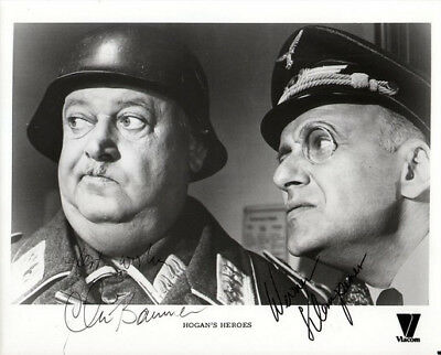 Hogan's Heroes Cast Signed Photo 8X10 Rp Autograph John Banner Werner Klemperer