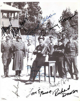 Hogan's Heroes Cast Signed Photo 8X10 Rp Autographed Bob Crane Werner Klemperer