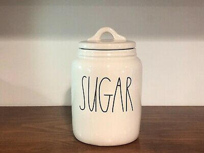 Rae Dunn Artisan Collection By Magenta SUGAR Farmhouse Baby Small Canister VHTF