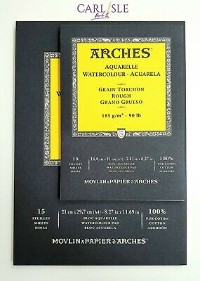 Arches Aquarelle Watercolour Pads - Rough 185gsm - Choose Your Size